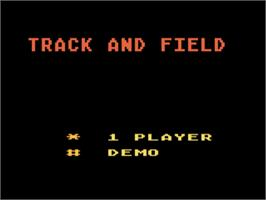 Title screen of Track & Field on the Atari 5200.