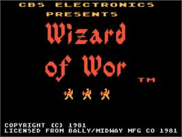 Title screen of Wizard of Wor on the Atari 5200.