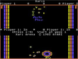 Title screen of Xari Arena on the Atari 5200.