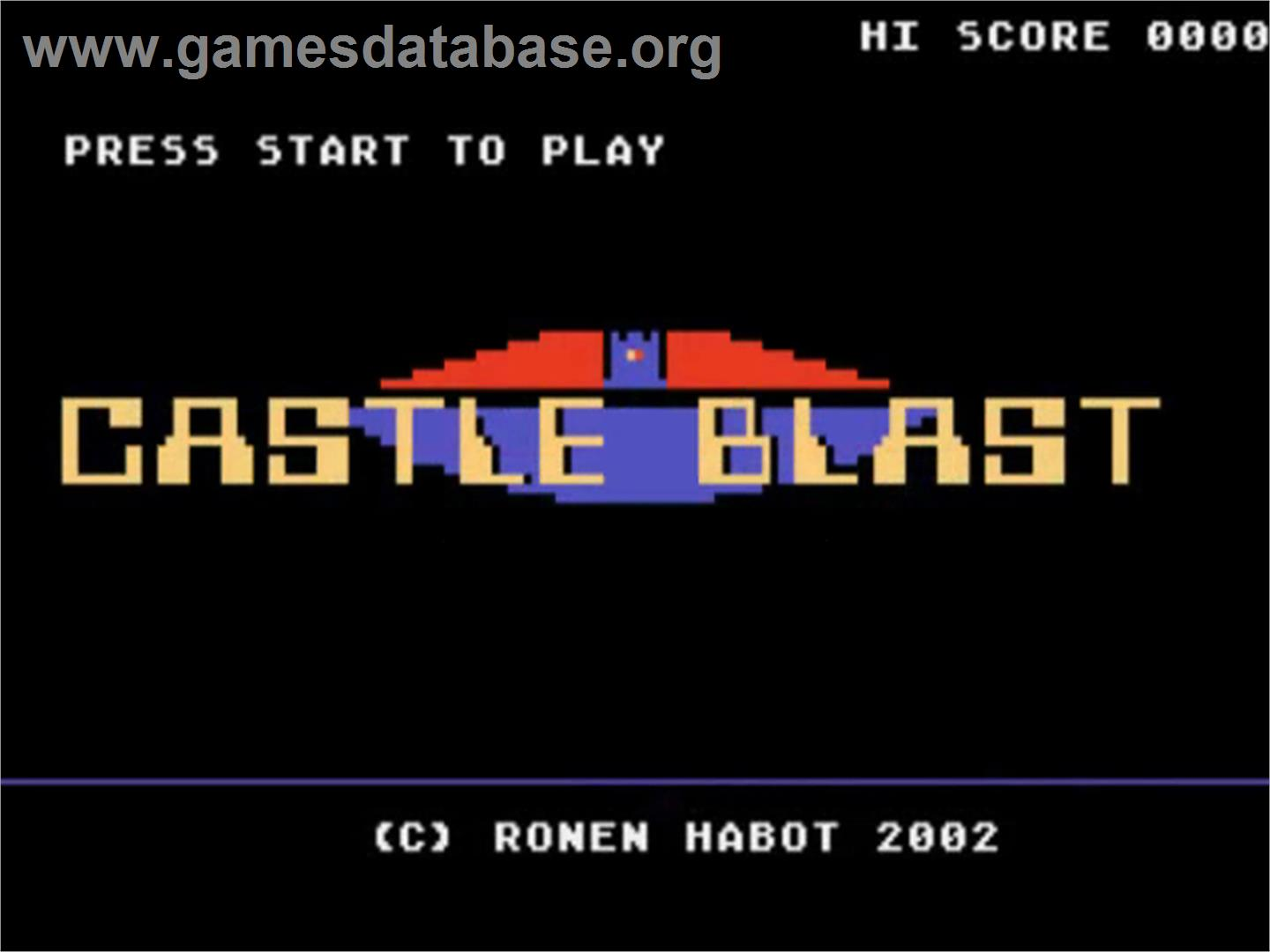 Castle Blast - Atari 5200 - Artwork - Title Screen