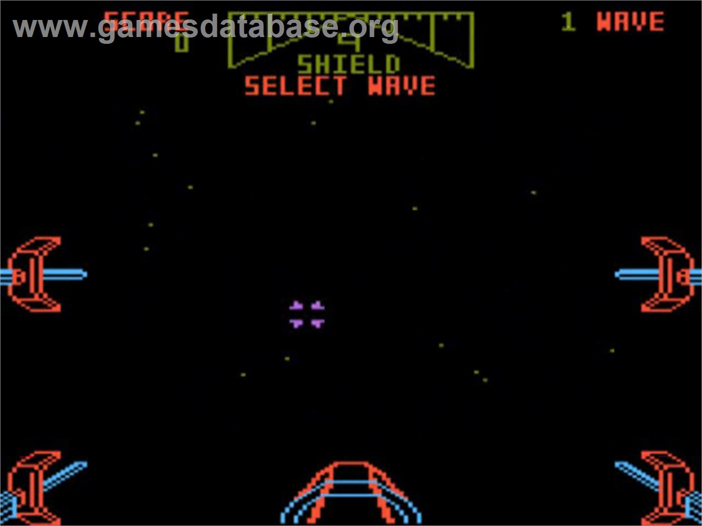 Title screen of Star Wars Arcade on the Atari 5200.