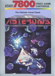 Box cover for 3D Asteroids on the Atari 7800.