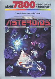 Box cover for Asteroids on the Atari 7800.