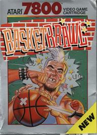 Box cover for Basketbrawl on the Atari 7800.