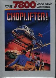 Box cover for Choplifter on the Atari 7800.