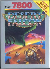 Box cover for Desert Falcon on the Atari 7800.