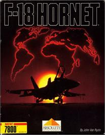 Box cover for F-18 Hornet on the Atari 7800.