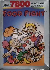 Box cover for Food Fight on the Atari 7800.