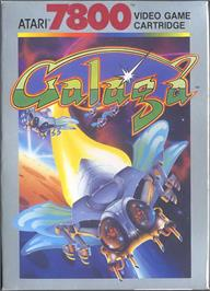 Box cover for Galaga on the Atari 7800.