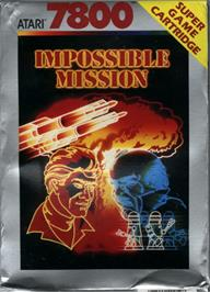 Box cover for Impossible Mission on the Atari 7800.