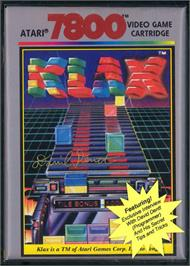Box cover for Klax on the Atari 7800.