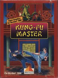 Box cover for Kung-Fu Master on the Atari 7800.