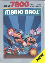 Box cover for Mario Bros. on the Atari 7800.