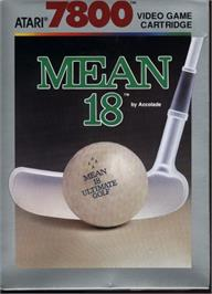 Box cover for Mean 18 Golf on the Atari 7800.