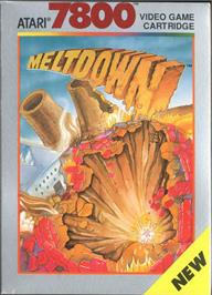 Box cover for Meltdown on the Atari 7800.