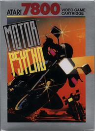 Box cover for MotorPsycho on the Atari 7800.