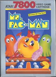 Box cover for Ms. Pac-Man on the Atari 7800.