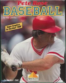 Box cover for Peter Rose Baseball on the Atari 7800.