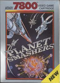 Box cover for Planet Smashers on the Atari 7800.
