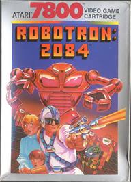 Box cover for Robotron on the Atari 7800.