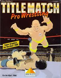 Box cover for Title Match Pro Wrestling on the Atari 7800.