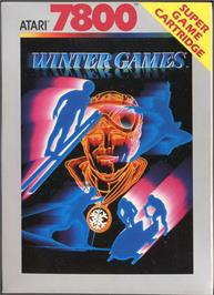 Box cover for Winter Games on the Atari 7800.