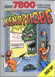 Box cover for Xenophobe on the Atari 7800.