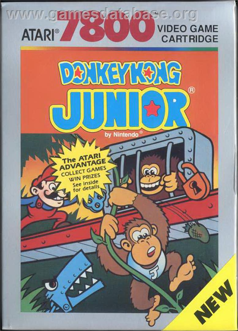 Donkey Kong Junior - Atari 7800 - Artwork - Box