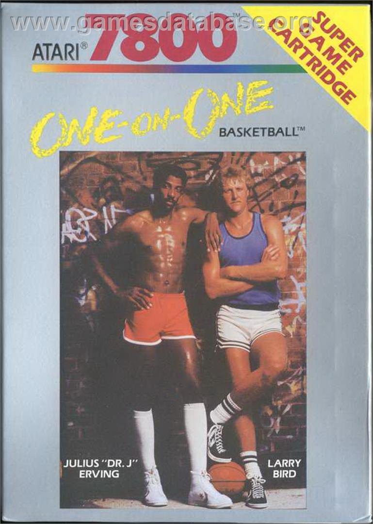 Dr. J and Larry Bird Go One-on-One - Atari 7800 - Artwork - Box
