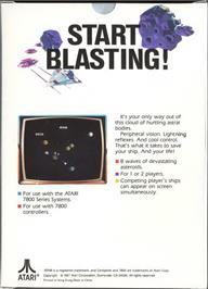 Box back cover for Asteroids on the Atari 7800.