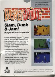 Box back cover for Basketbrawl on the Atari 7800.