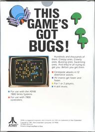 Box back cover for Centipede on the Atari 7800.
