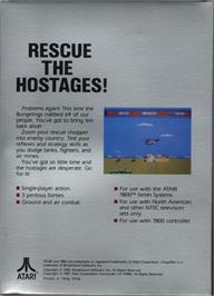 Box back cover for Choplifter on the Atari 7800.