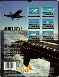 Box back cover for F-18 Hornet on the Atari 7800.
