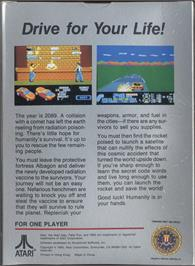 Box back cover for Fatal Run on the Atari 7800.