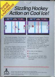 Box back cover for Hat Trick on the Atari 7800.