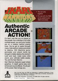 Box back cover for Ikari Warriors on the Atari 7800.