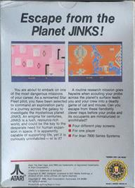 Box back cover for Jinks on the Atari 7800.