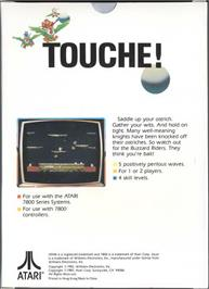 Box back cover for Joust on the Atari 7800.
