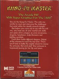 Box back cover for Kung-Fu Master on the Atari 7800.