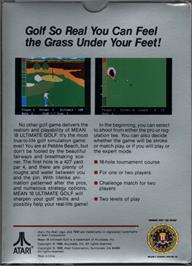 Box back cover for Mean 18 Golf on the Atari 7800.