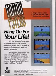 Box back cover for MotorPsycho on the Atari 7800.