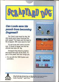 Box back cover for Scrapyard Dog on the Atari 7800.