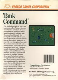 Box back cover for Tank Command on the Atari 7800.