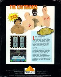 Box back cover for Title Match Pro Wrestling on the Atari 7800.