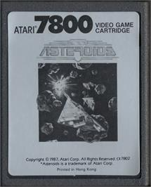 Cartridge artwork for Asteroids on the Atari 7800.