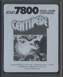 Cartridge artwork for Centipede on the Atari 7800.