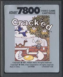 Cartridge artwork for Crack'ed on the Atari 7800.