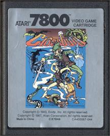 Cartridge artwork for Crossbow on the Atari 7800.
