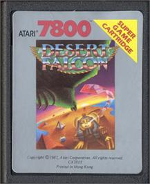 Cartridge artwork for Desert Falcon on the Atari 7800.